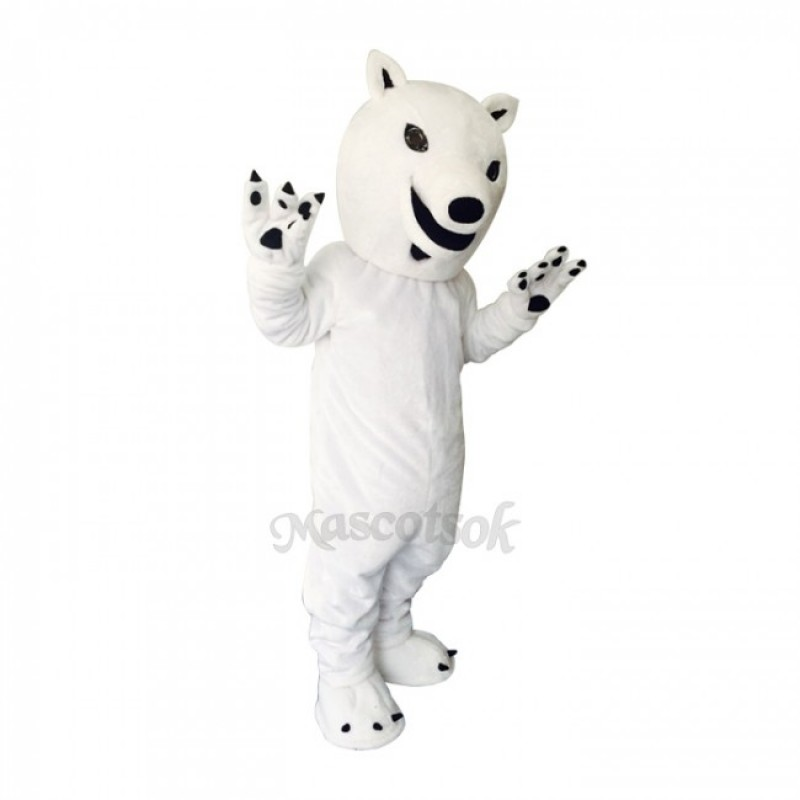 White Polar Bear Plush Adult Mascot Costume