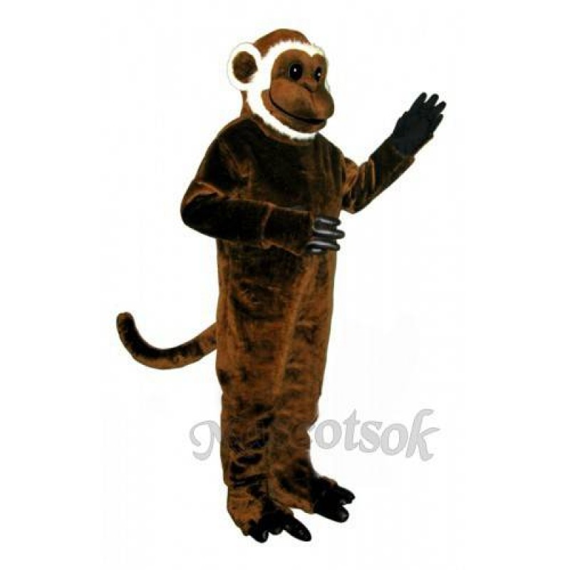 Cute Bearded Monkey Mascot Costume