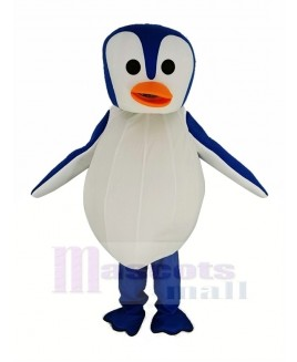 Blue and White Penguin with Orange Mouth Mascot Costume