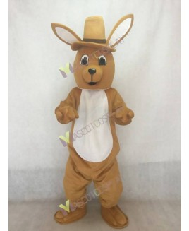Adult Melbourne Roo Kangaroo with Hat Mascot Costume