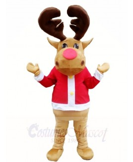 Christmas Deer Brown Reindeer Mascot Costumes Xmas Animal