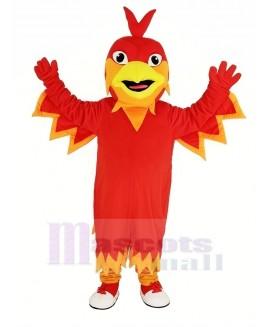Cute Red Phoenix Mascot Costume Animal