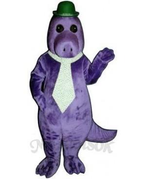 Jake the Saurus with Hat & Tie Mascot Costume