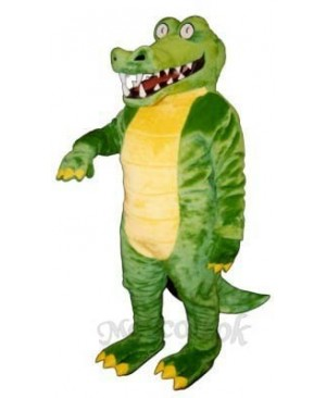 Brawny Gator Mascot Costume