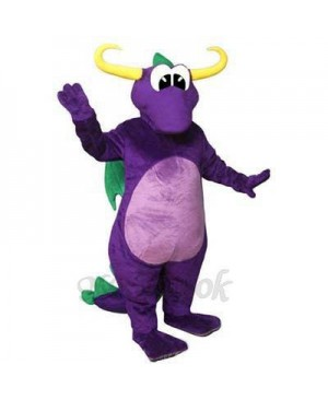 Horned Dragon Mascot Costume