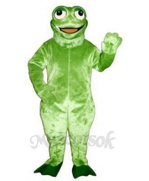 Jaunty Toad Frog Mascot Costume