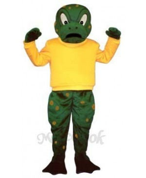 Tough Toad with Shirt Mascot Costume
