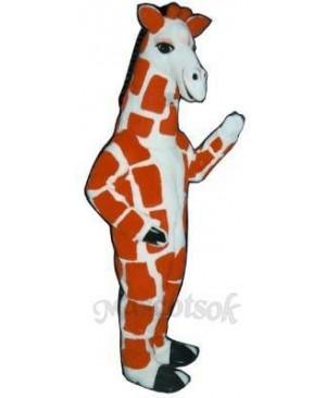 Red Giraffe Mascot Costume
