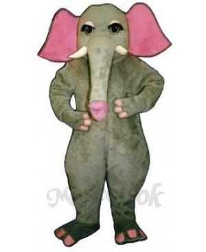 Girl Elephant Mascot Costume