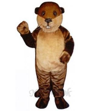 Benny Beaver Mascot Costume