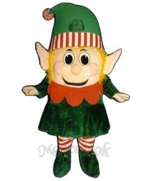 Madcap Girl Elf Mascot Costume