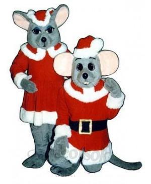 Chris Mouse (Kneeling) Christmas Mascot Costume