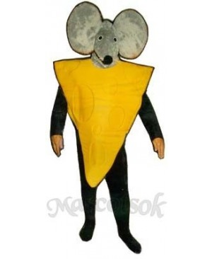 Cheese Slice with Mouse Hood Mascot Costume