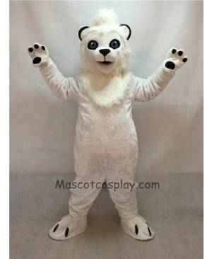 High Quality White Lion Mascot Costume