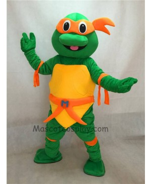 High Quality Orange TMNT Michelangelo Mikey Teenage Mutant Ninja Turtle Adult Character Halloween Party Carnival Mascot Costume