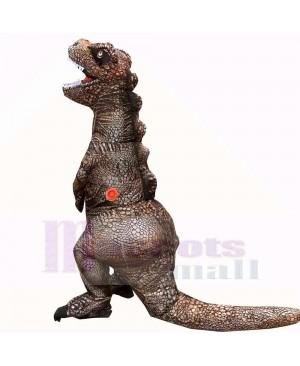 Dark Brown Tyrannosaurus T-Rex Dinosaur Inflatable Costume Halloween Xmas for Adult
