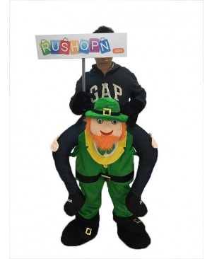 St Patricks Day Piggy Back Costume Irish Carry Me Leprechaun Mascot Costume
