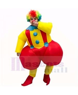 Clown with Big Fat Ass Joker Inflatable Halloween Christmas Mascot Costume Cartoon