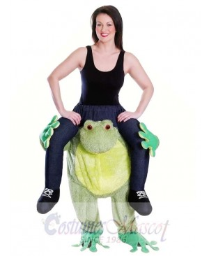 Piggy Back Frog Carry Me Mascot Costume Ride On Frog Fancy Dress