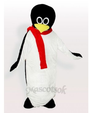 Baby Penguin with Red Scarf Adult Mascot Costume