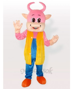 Adorable Pinky Cow Adult Mascot Costume