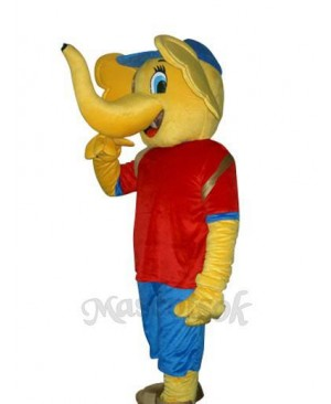 Yellow Elephant Mascot Adult Costume