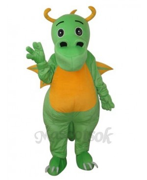 Big Nose Green Dinosaur Mascot Adult Costume