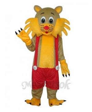 Yellow Face Cat Adult Mascot Costume