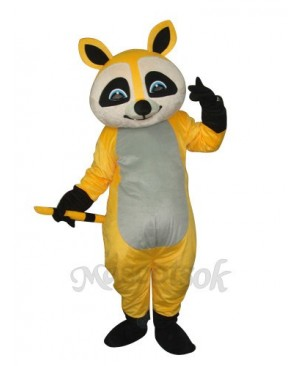 Yellow Raccoon Mascot Adult Costume