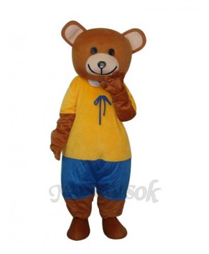 New Ribbon Teddy Bear Mascot Adult Costume