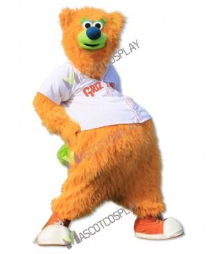 Fresno Grizzlies Parker T. Bear Mascot Costume Yellow Bear Mascot