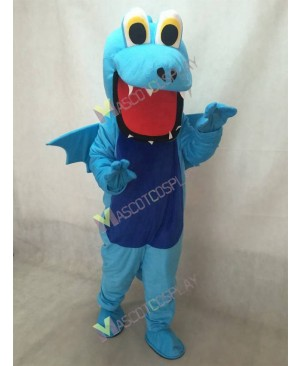 Dark Blue Belly Thorn Dragon Mascot Costume