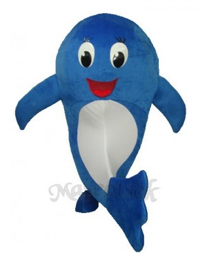 2nd Version of Blue Dolphin Mascot Adult Costume
