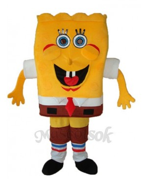 SpongeBob with Artificial Hands Mascot Adult Costume