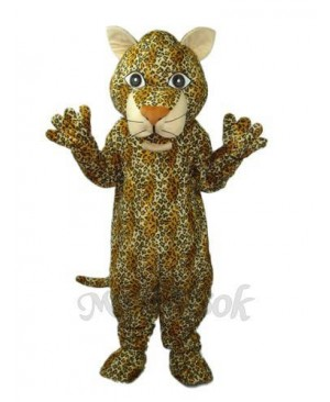 Young Leopard Mascot Adult Costume