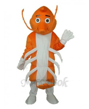Long Moustache Lobster Mascot Adult Costume