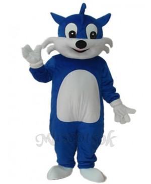 Blue Cat Mascot Adult Costume
