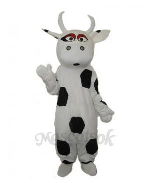 Big Black Dot Cow Mascot Adult Costume