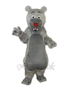 Long-haired Gray-mouth Bear Mascot Adult Costume