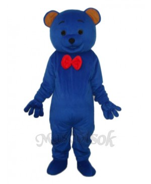 Blue Teddy Bear Mascot Adult Costume