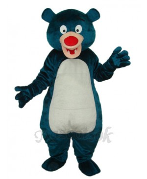 Blue Bear Mascot Adult Costume