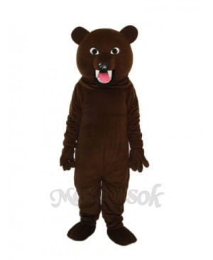 Large Gray Black Bear Tooth Mascot Adult Costume