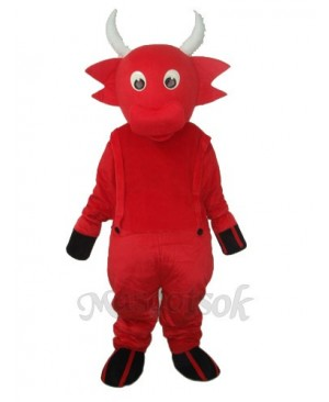 Red Cow Mascot Adult Costume