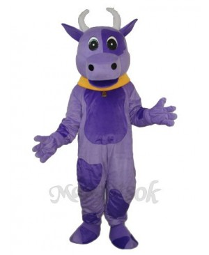 Purple Cow Mascot Adult Costume