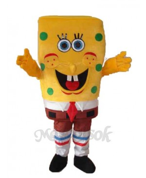 New SpongeBob Mascot Adult Costume
