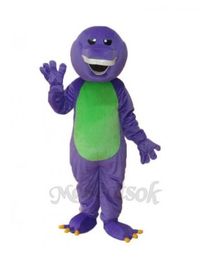 Purple Barney Mascot Adult Costume