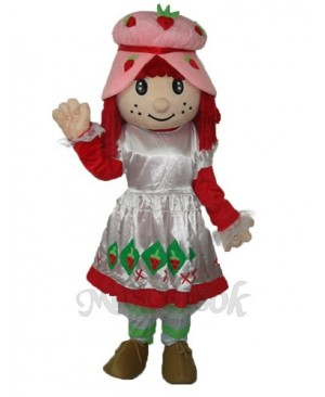Strawberry Girl (revised edition) Mascot Adult Costume