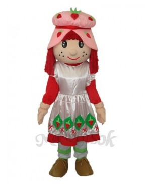 Strawberry Girl Mascot Adult Costume
