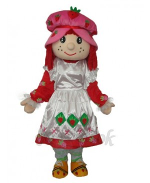 Strawberry Girl 2 Mascot Adult Costume
