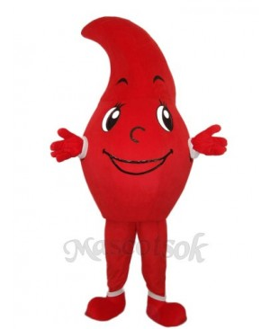 Revised Red Dripping Mascot Adult Costume